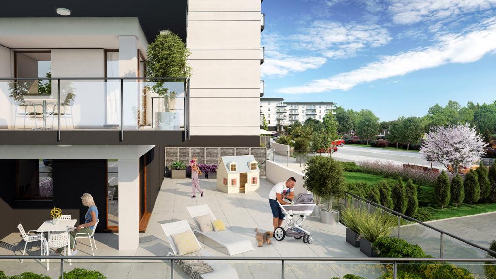 Luksusowe apartamenty z 117 metrowymi tarasami